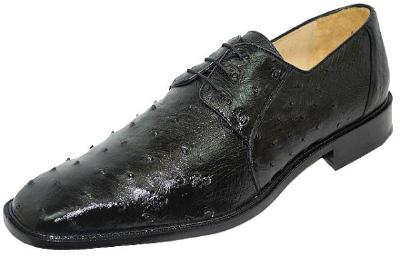 Picture of Belvedere Fabio Ostrich Oxford (Black)