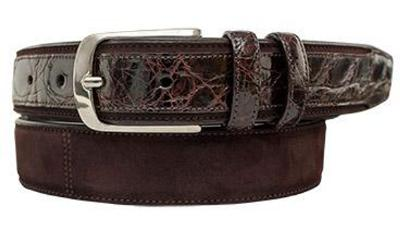 Picture of Mezlan 9482 Belt Alligator Suede (Brown)