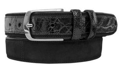 Picture of Mezlan 9482 Belt Alligator Suede (Black)