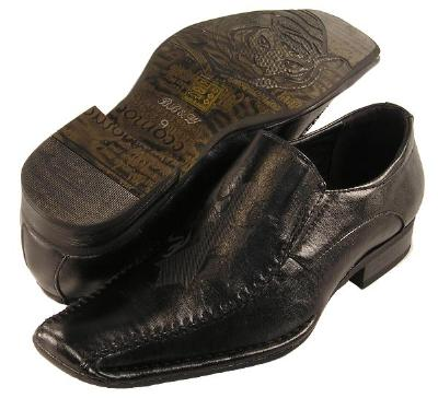 Picture of Bravo BB & W Crest Slipon 2428 (Black)