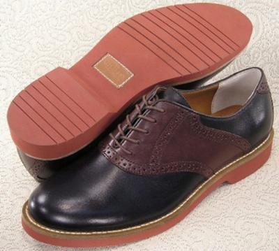 Picture of Bass Burlington Saddle Shoe (Black/Brown)