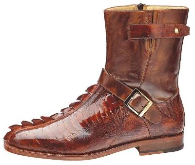 Picture of Belvedere Vibo Hornback/Ostrich Boot