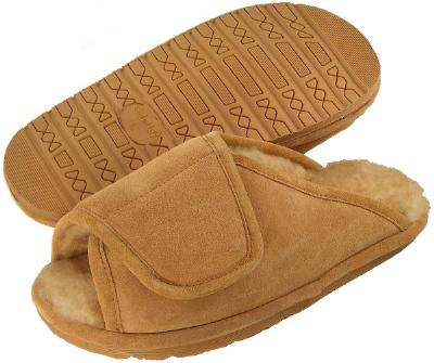 Picture of Ciabatta Sheepskin Velcro Slipper Men's