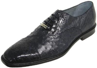 Picture of Belvedere Onesto Crocodile Ostrich Oxford (Navy)