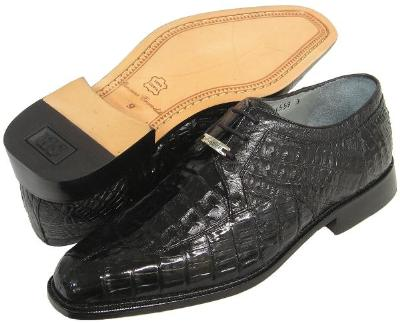Picture of Belvedere Susa Crocodile Oxford (Black)