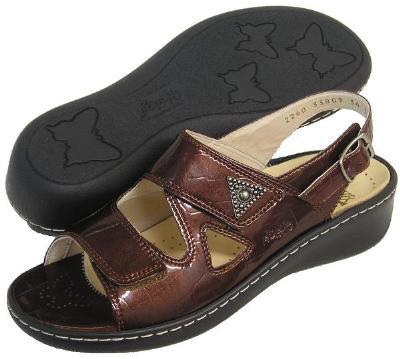 Picture of Fidelio Hallux Fabia Bunion Relief Adjustable Sandal 33809 (Brown/Kastanie)