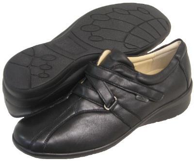 Picture of Fidelio Hallux Fabia Magic Stretch Slipon Shoe 356003 (Black)