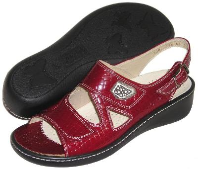 Picture of Fidelio Hallux Fabia Bunion Relief Sandal 434004 (Red/Rot)