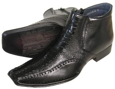 Picture of Alberto Fellini Side Zip Demi Boot 02 (Black)