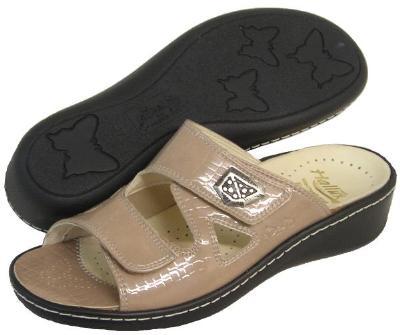 Picture of Fidelio Hallux Fabia Bunion Relief Sandal 434003 (Taupe/Croco)