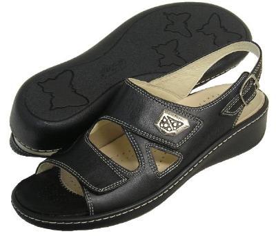 Picture of Fidelio Hallux Fabia Bunion Relief Sandal 434004 (Black)