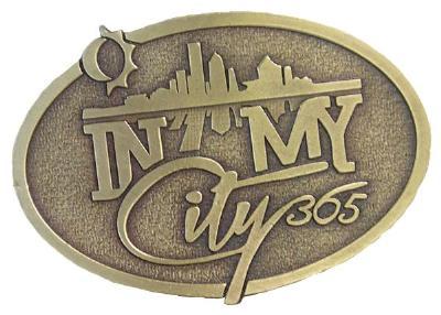 Picture of In My City 365 Belt Buckle (Bronze)